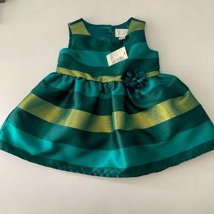 🆕 The Children's Place Green Metallic Dress